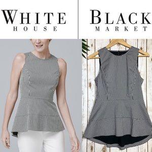 WHITE HOUSE BLACK MARKET Gingham top